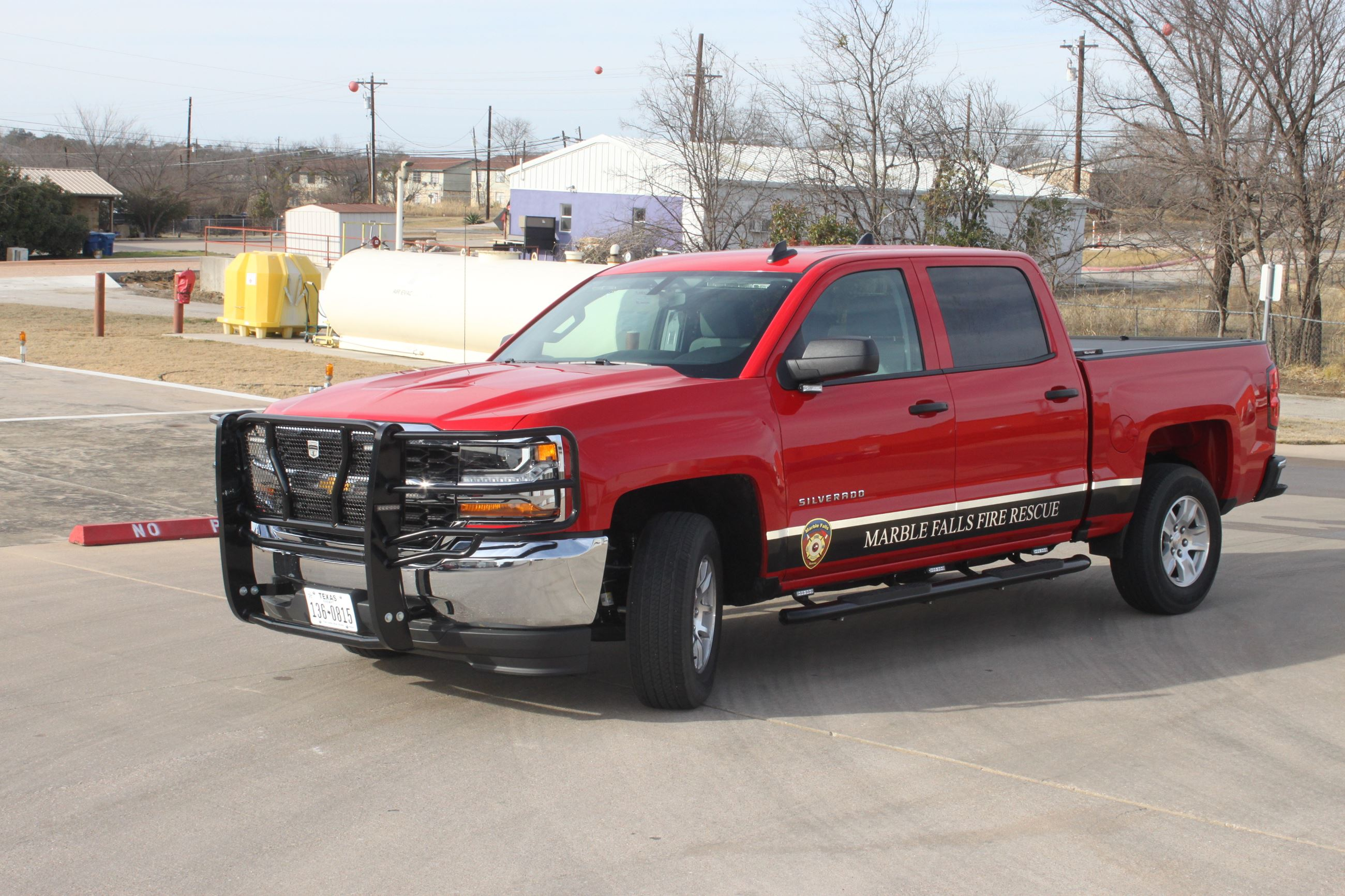 Chief 1, a 2018 Chevy Silverado, the Fire Chief's vehicle