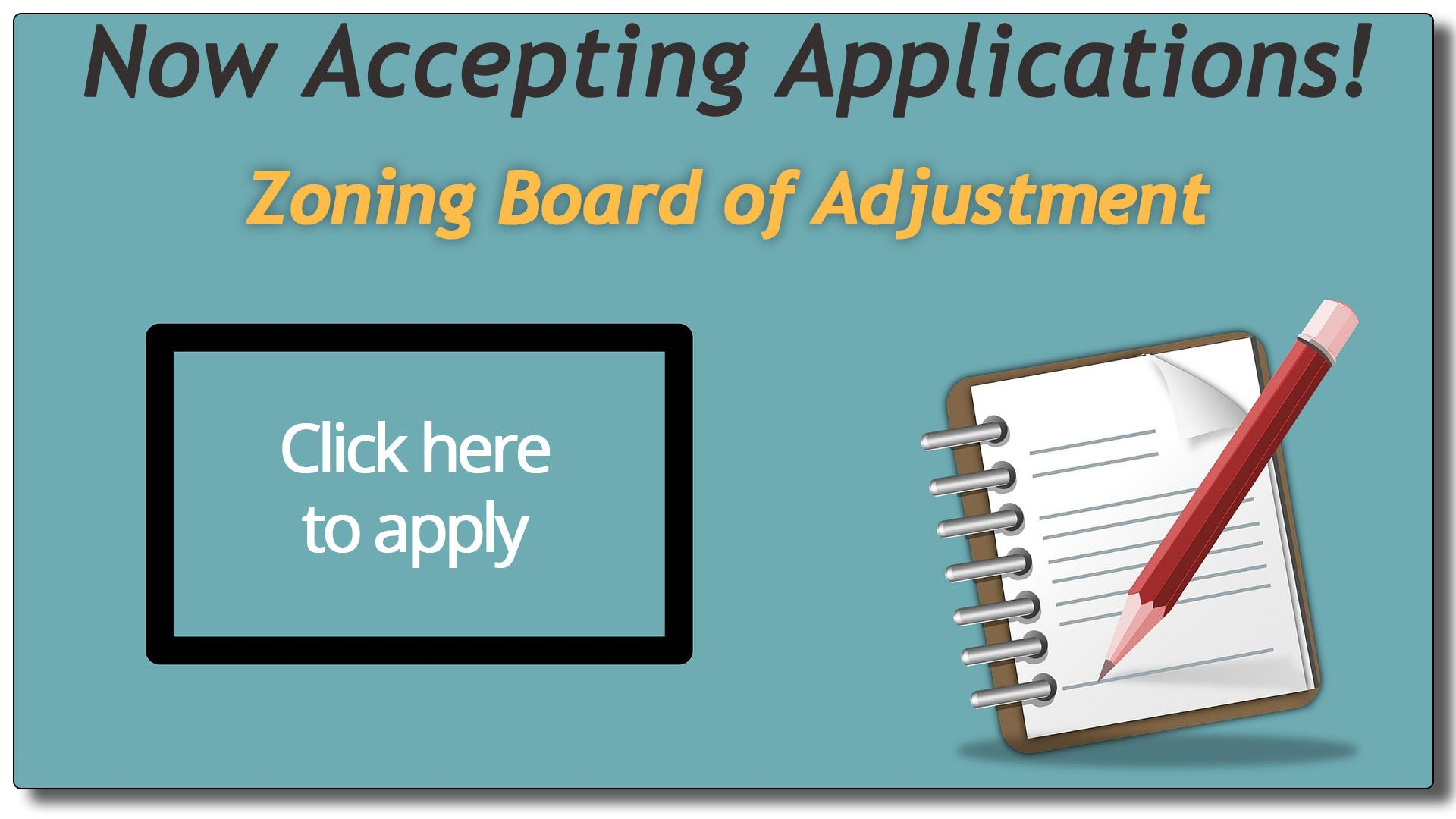 Zoning Board of Adjustment Advertisement