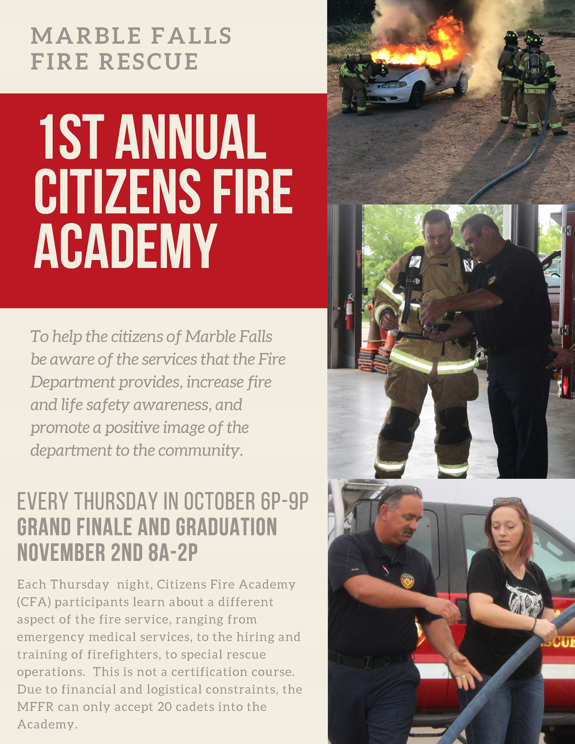 Citizens Fire Academy