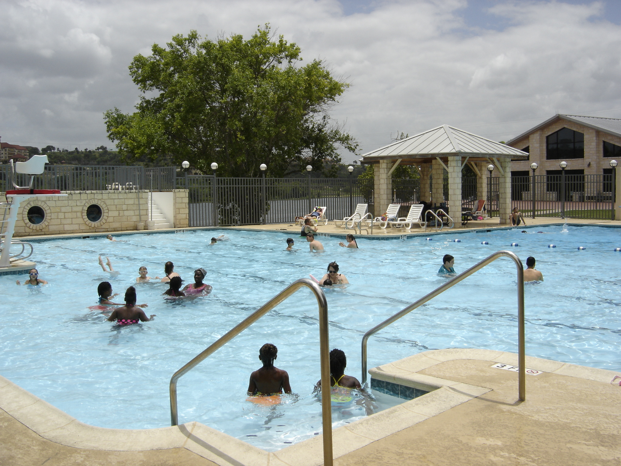 People swimming in the pool